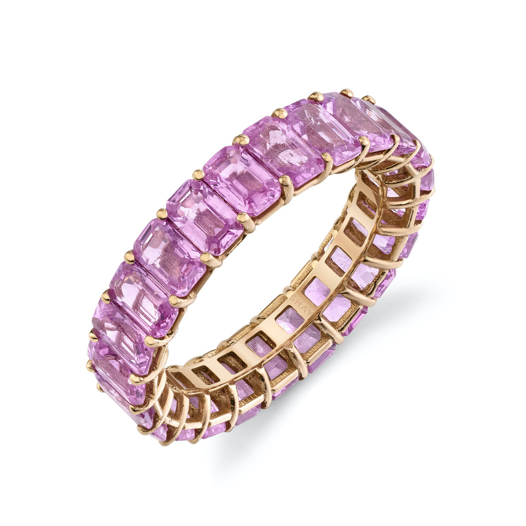 READY TO SHIP PINK SAPPHIRE ETERNITY BAND