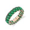 3 SIDED EMERALD ORBIT RING