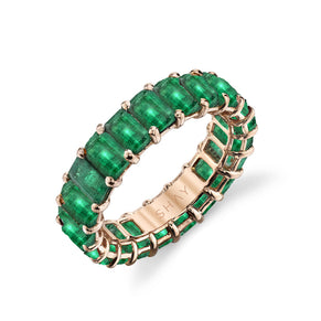 READY TO SHIP EMERALD ETERNITY BAND