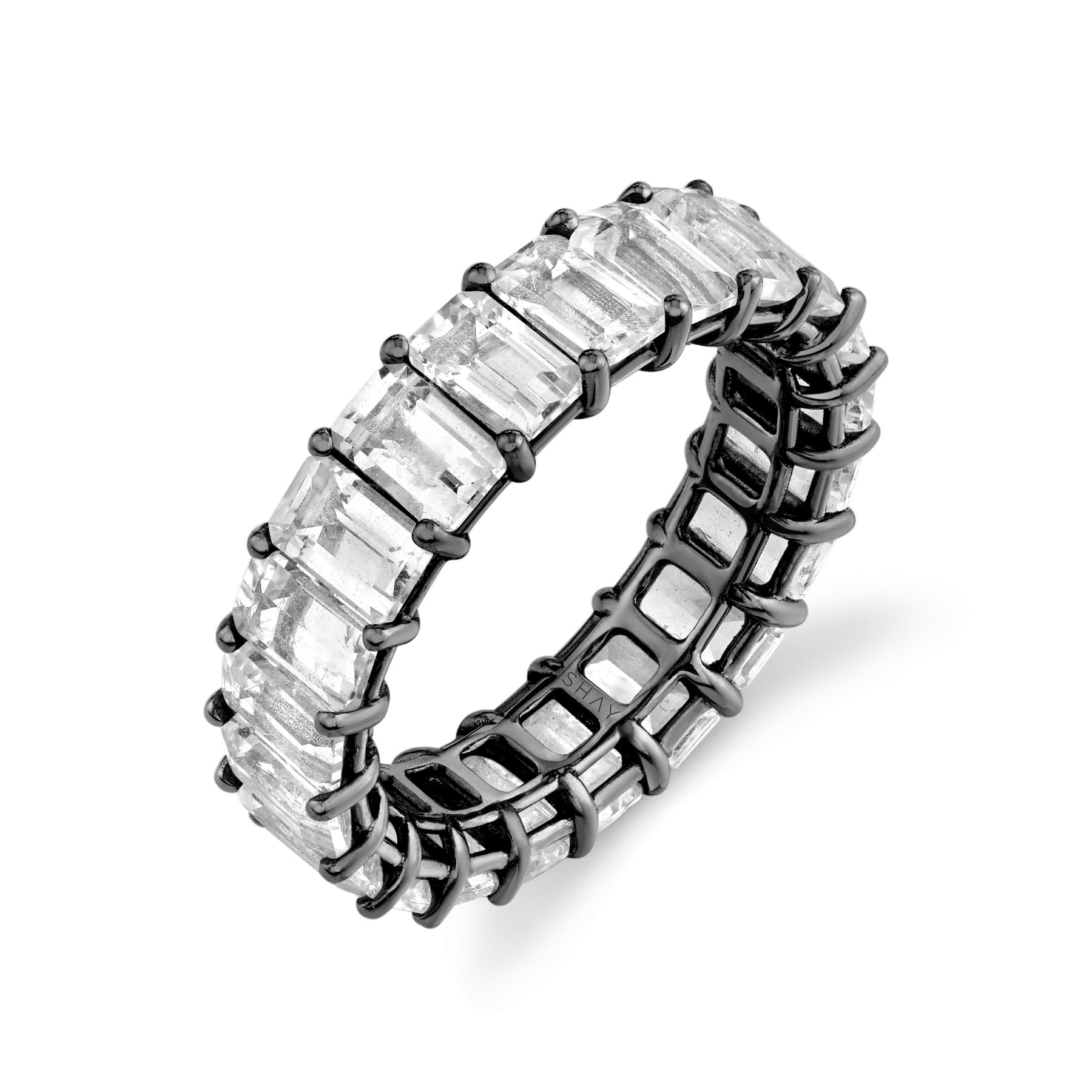WHITE TOPAZ ETERNITY BAND