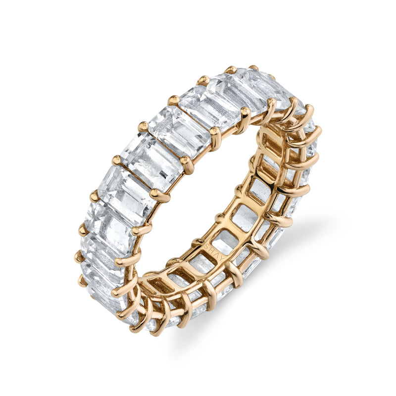 READY TO SHIP WHITE TOPAZ ETERNITY BAND