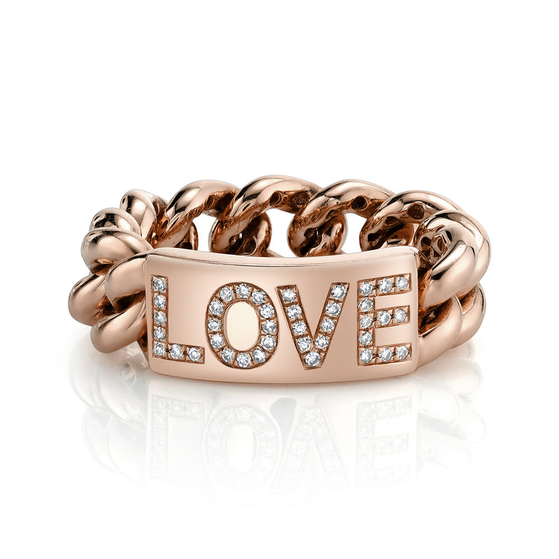MEDIUM ID LOVE LINK RING