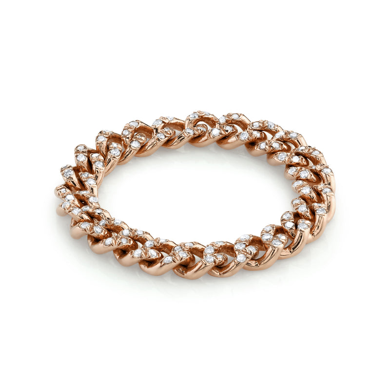 BABY PAVE LINK RING