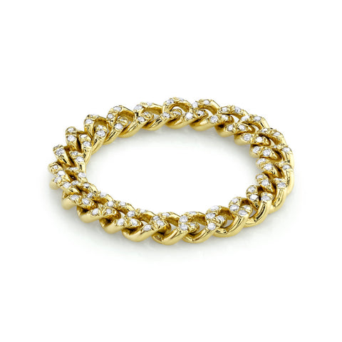 BABY BAGUETTE DIAMOND LINK RING