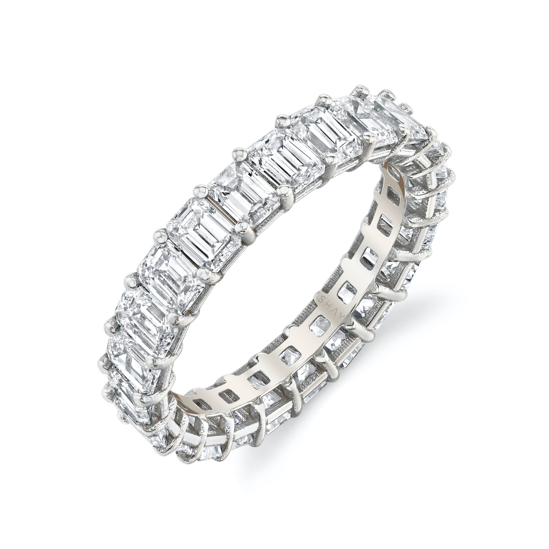 SMALL EMERALD CUT ETERNITY BAND