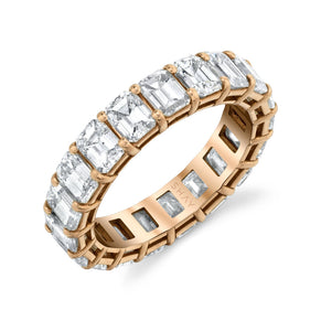 MEDIUM EMERALD CUT ETERNITY BAND