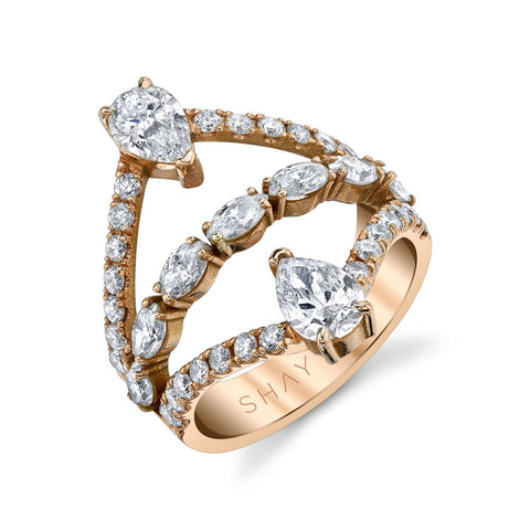 STAGGERED SOLITAIRE DIAMOND RING