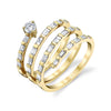 DIAMOND 4 BAGUETTE SPIRAL RING