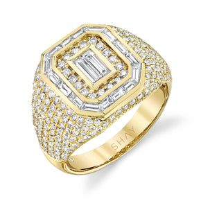 MIXED DIAMOND CHAMPION PINKY RING