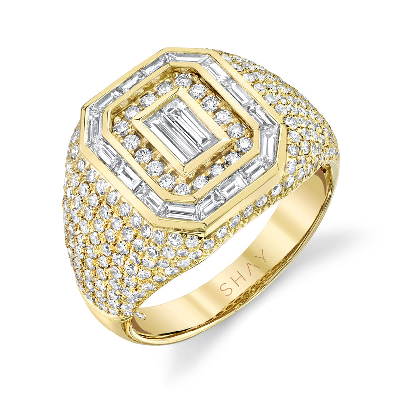 PINKY PAVE MIXED DIAMOND CHAMPION RING