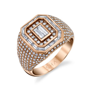 READY TO SHIP MIXED DIAMOND CHAMPION PINKY RING