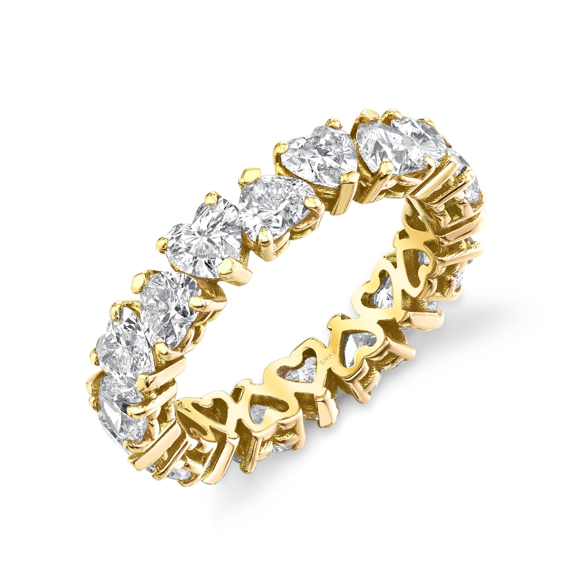 READY TO SHIP DIAMOND HEART ETERNITY BAND