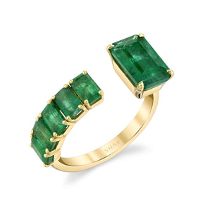 FLOATING EMERALD RING