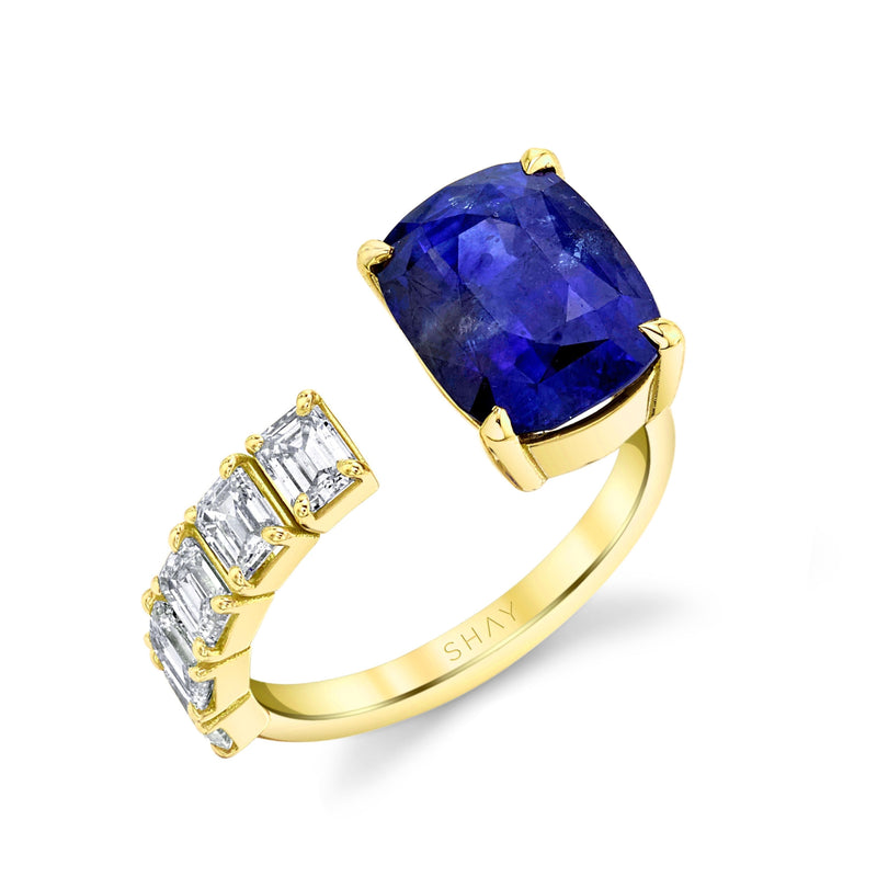FLOATING BLUE SAPPHIRE & DIAMOND RING