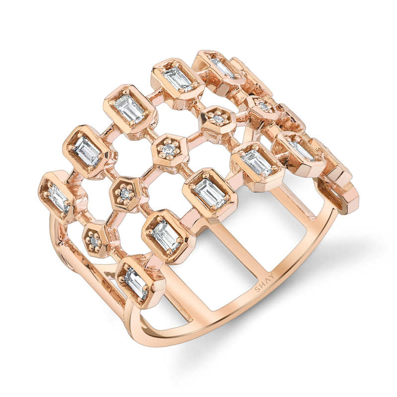 DOUBLE DASH DIAMOND RING