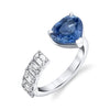 FLOATING BLUE SAPPHIRE HEART & DIAMOND RING