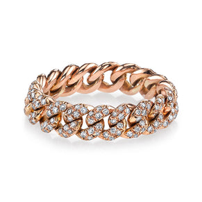 READY TO SHIP DIAMOND PAVE MINI LINK RING