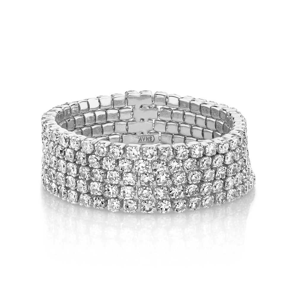 DIAMOND 5 THREAD STACK RING