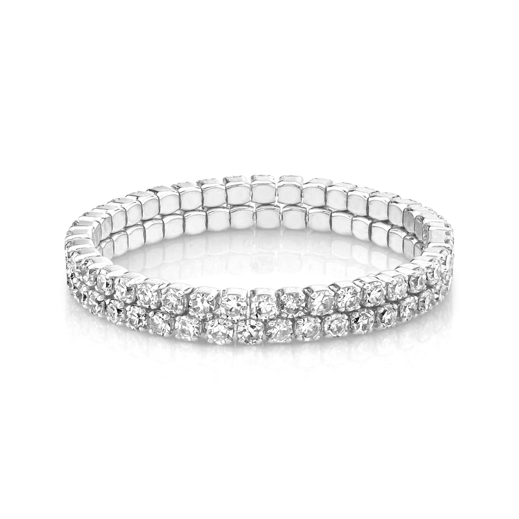 DIAMOND 2 THREAD STACK RING
