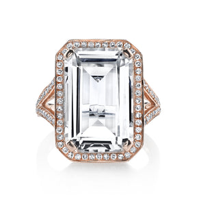 WHITE TOPAZ PORTRAIT RING