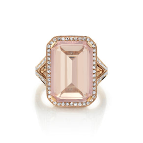 LIGHT PINK CRYSTAL PORTRAIT GEMSTONE RING
