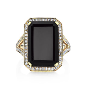 PORTRAIT BLACK ONYX RING