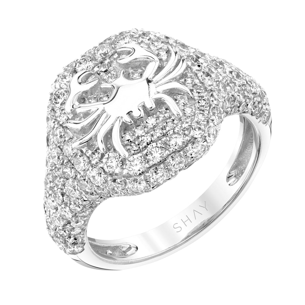 DIAMOND PAVE ZODIAC PINKY RING