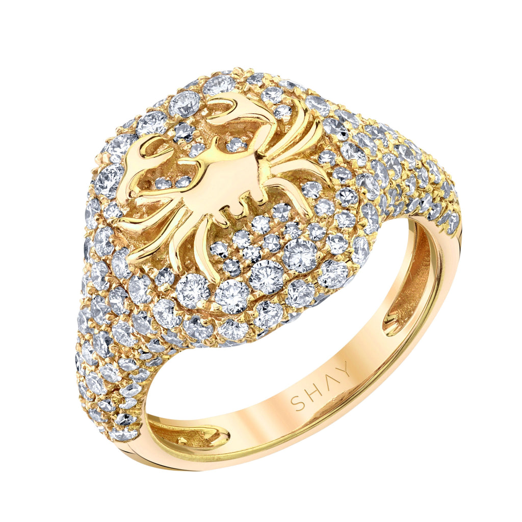 DIAMOND PAVE ZODIAC RING