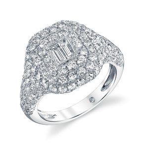 DIAMOND BAGUETTE PAVE PINKY RING