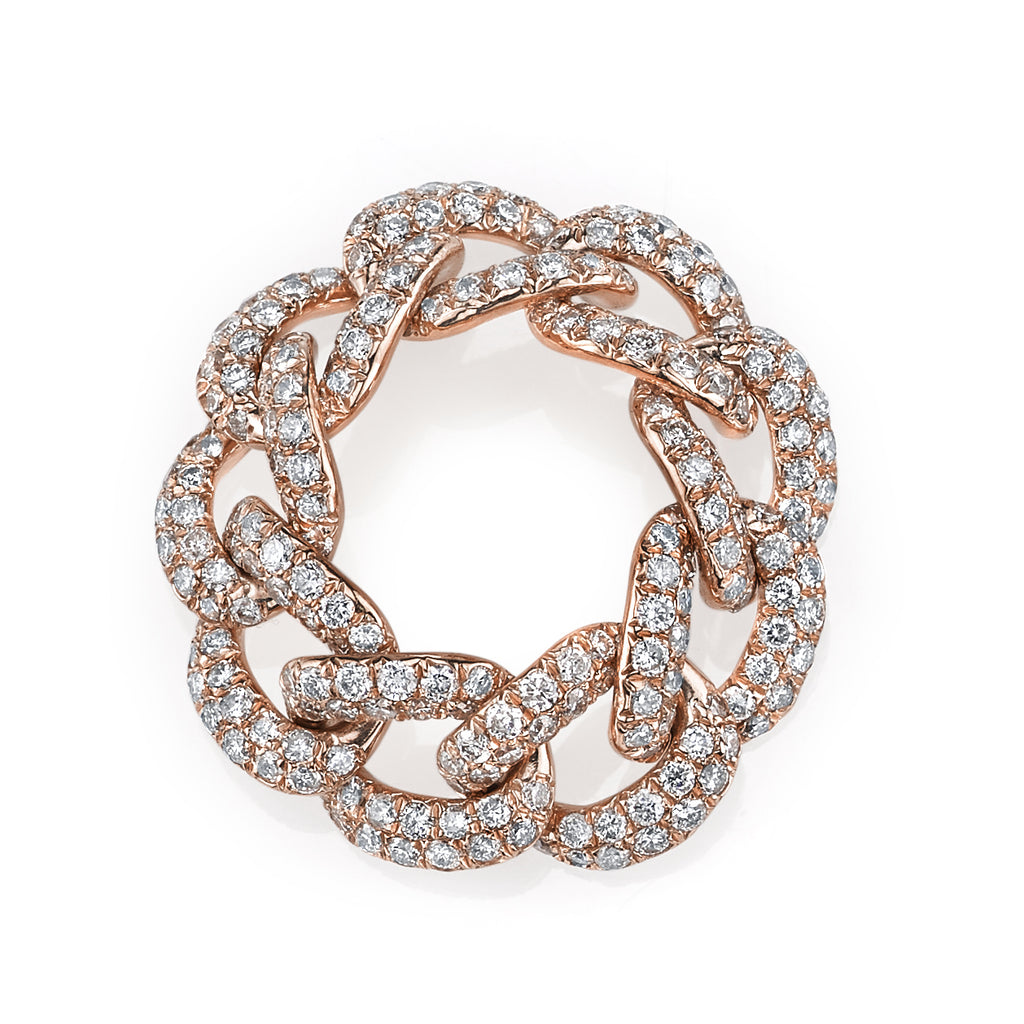 READY TO SHIP DIAMOND PAVE ESSENTIAL LINK RING