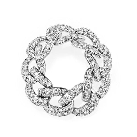 TWIN PEAR SPIRAL SNAKE RING