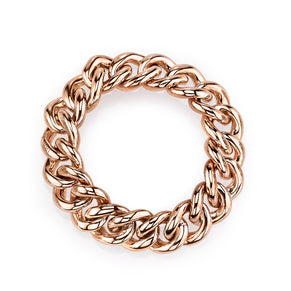 SOLID GOLD LINK RING