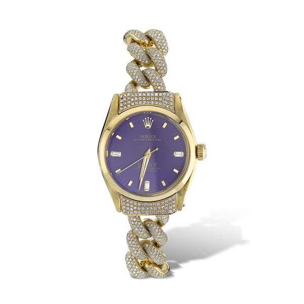 CUSTOM VIOLET VINTAGE WATCH