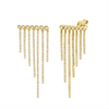 BEZEL ROW PAVE FRINGED EARRINGS