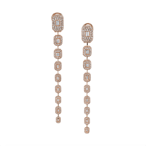XL STICK BEZEL EARRINGS