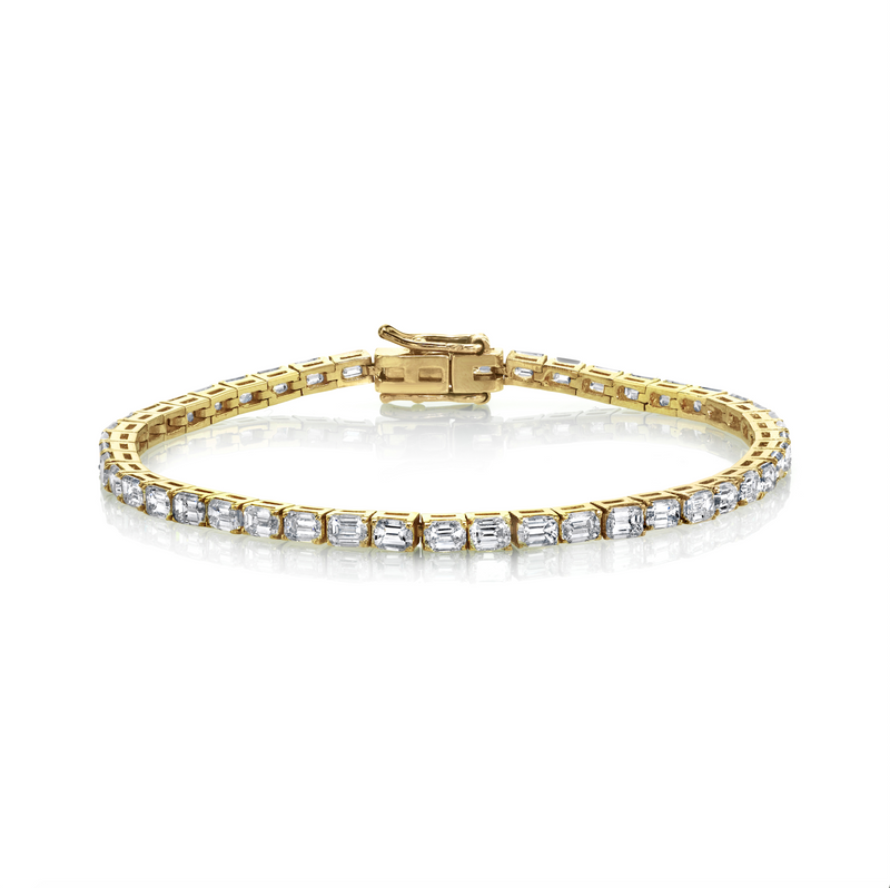 EMERALD CUT TENNIS BRACELET, 7cts