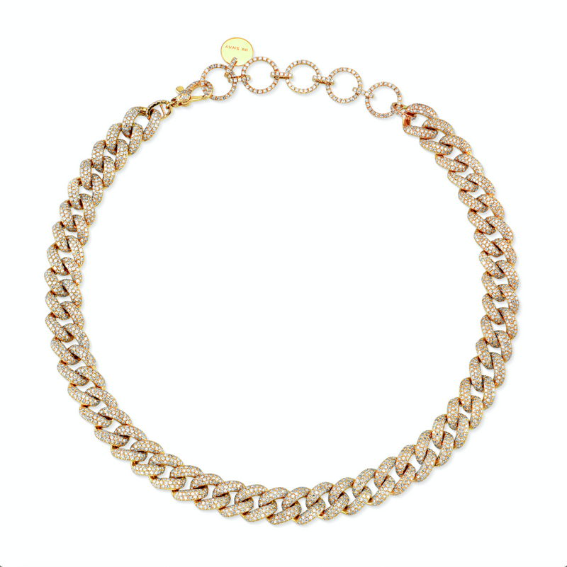 ESSENTIAL PAVE LINK CHOKER