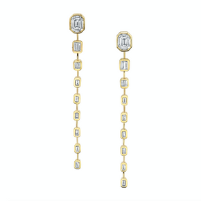 ILLUSION BAGUETTE DROP EARRINGS