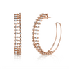 PAVE BAGUETTE DROP EARRINGS