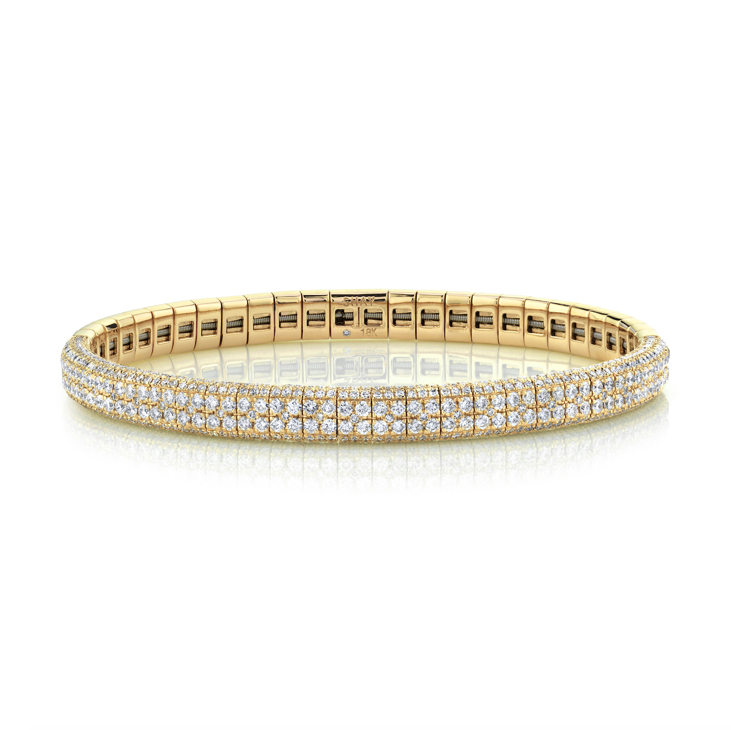 DIAMOND DOUBLE ROW PAVE STRETCH BRACELET