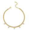 YELLOW DIAMOND OVAL DROP LINK NECKLACE