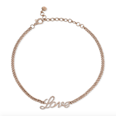 FULL PAVE BABY LINK LOVE CHOKER