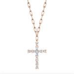 MINI DIAMOND CROSS NECKLACE