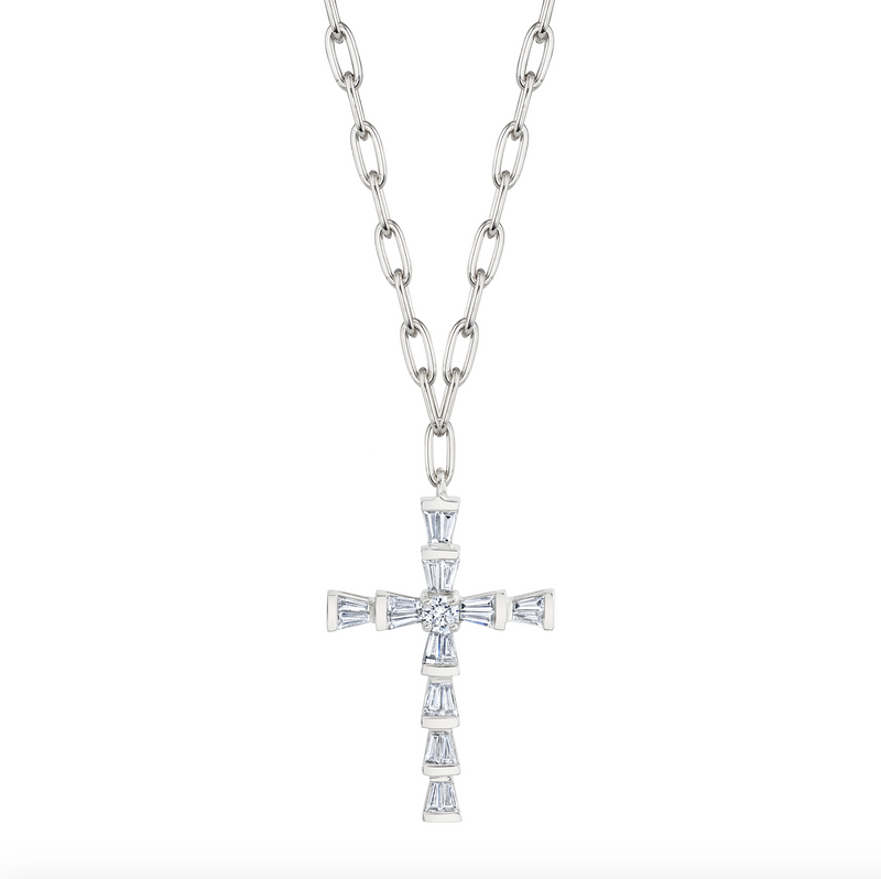 DIAMOND MINI CROSS NECKLACE