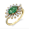 EVIL EYE EMERALD  PINKY RING