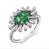 EMERALD EVIL EYE PINKY RING