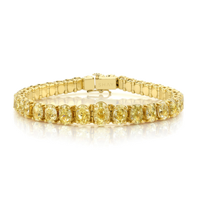 GRADUAL YELLOW DIAMOND OVAL TENNIS BRACELET