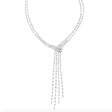 MIXED DIAMOND ILLUSION FALL NECKLACE