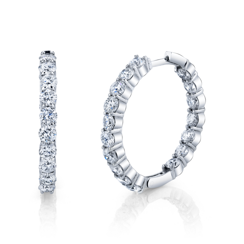 ROUND DIAMOND HOOPS