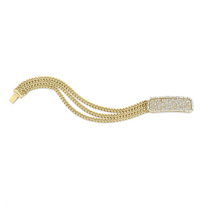 DIAMOND ID TRIPLE CHAIN BRACELET